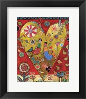 Framed Mermaids Heart