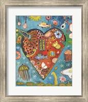 Framed Sea Heart