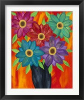 Framed Blooming Colors