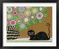 Framed Feline Florist 2
