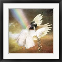 Framed Angel of Gold