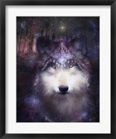Framed Wolf Guardian