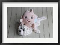 Framed Baby Boy On Bear Rug