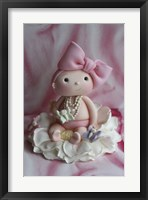 Framed Baby Girl And Butterflies
