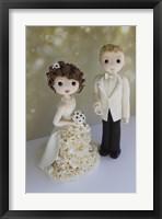 Framed Bride And Groom Winter 2014 Bokeh