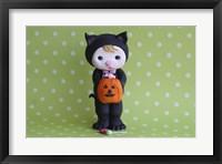 Framed Halloween Kitty Girl