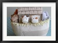 Framed Noah's Ark Cows Close Up