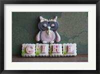 Framed Owl Quilled Girl
