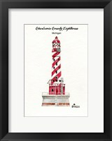 Framed Charlevoix County Lighthouse, MI