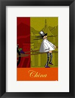 Chef in China Framed Print