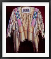 Framed Sacred Raven's War Shirt