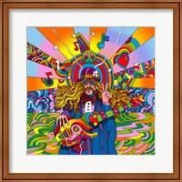 Framed Hippie Musician
