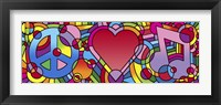 Framed Peace Love Music A