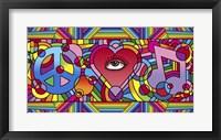 Framed Peace Love Music C