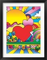 Cosmic Heart Landscape Framed Print