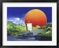 Sun Boat Framed Print