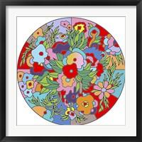 Framed Flower Circle