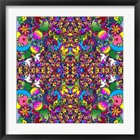 Flowers Kalidescope Framed Print