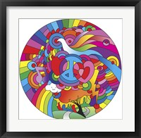 Framed Peace Love Music Circle