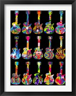 Framed Pop Art Guitars