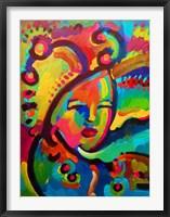 Framed Mardigras Lady 3