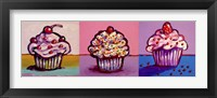 Framed 3 Cupcakes