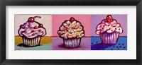 Framed 3 Cupcakes