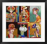 Framed Art Deco Ladies 8