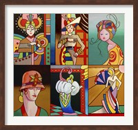 Framed Art Deco Ladies 8