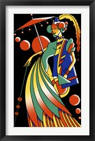 Framed Art Deco Lady 4