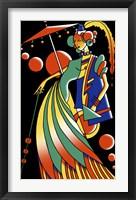 Framed Art Deco Lady 4