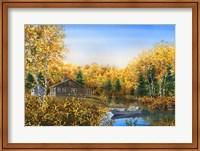 Framed Fall Cabin