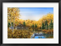 Framed Fall Cabin