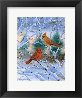 Framed Sunset Cardinals
