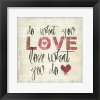 Love and Daydream I Framed Print