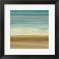 Framed Turquoise Horizons I