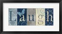 Framed Live Love Laugh Navy III