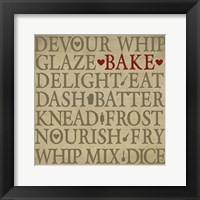 Framed Chef's Words I