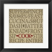 Framed Chef's Words II