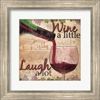 Framed Wine With Friends I