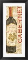 Wine Stucco II Framed Print