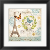 Framed Le Papillon Paris I