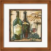 Framed Wooden Wine Square I