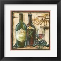 Wooden Wine Square I Framed Print