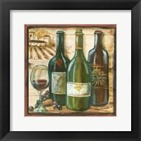Wooden Wine Square II Framed Print