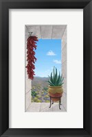 Framed Aloe and Chilis I