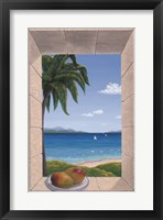 Framed Hawaiian Fantasy with Mangoes