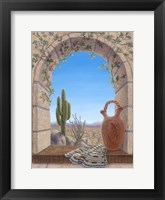 Framed Saguaro View