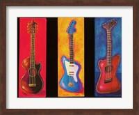 Framed Three Guitars