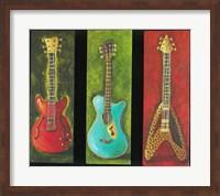 Framed Three Guitars 2